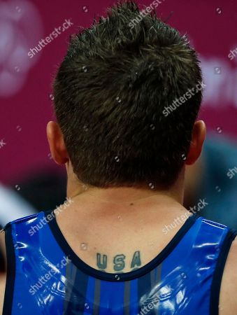 U.S. gymnast Jonathan Horton wait to perform during the Artistic Gymnastics men's qualification at the 2012 Summer Olympics, in London