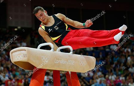 Editorial image of London Olympics Artistic Gymnastics Men