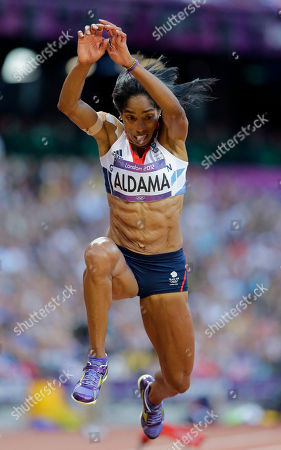 Britain's Yamile Aldama competes in the women's triple jump final during the athletics in the Olympic Stadium at the 2012 Summer Olympics, London