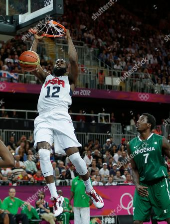 James Harden, Al-Farouq Aminu USA's James Harden slams a dunk after beating Nigeria's Al-Farouq Aminu during a men's basketball game at the 2012 Summer Olympics, in London