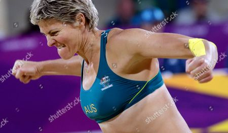 Editorial picture of London Olympics Beach Volleyball Women