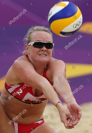 Editorial photo of London Olympics Beach Volleyball Women