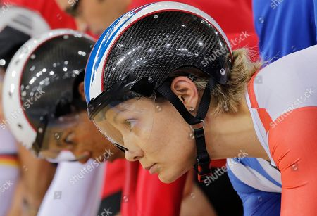 Clara Sanchez France's Clara Sanchez gets ready to seat a track cycling women's keirin heat, during the 2012 Summer Olympics in London