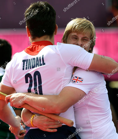 James Tindall, Ashley Jackson Britain's Ashley Jackson, right, embraces James Tindall shortly after the latter scored the team's first goal during the men's hockey preliminary match against Pakistan at the 2012 Summer Olympics, in London. Britain won 4-1