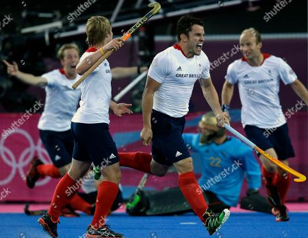 James Tindall Great Britain's James Tindall, second from right, celebrates his goal against Australia during the men's hockey preliminary match at the 2012 Summer Olympics, in London. Great Britain and Australia battled for a 3-3 score