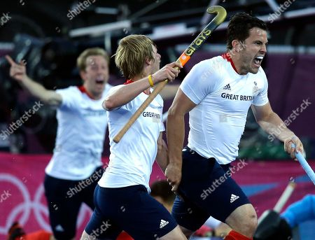 James Tindall Great Britain's James Tindall, right, celebrates his goal against Australia during the men's hockey preliminary match at the 2012 Summer Olympics, in London. Great Britain and Australia battled for a 3-3 score