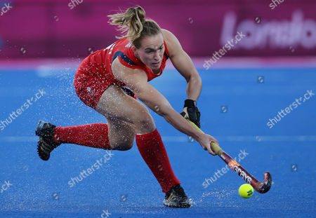Laura Bartlett England's Laura Bartlett plays a shot during a women's hockey competition preliminary round match at the 2012 Summer Olympics, in London