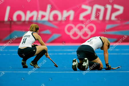 Laura Bartlett, Crista Cullen Britain's Laura Bartlett, left, and Crista Cullen react after losing to China in their women's hockey preliminary round match at the 2012 Summer Olympics, in London