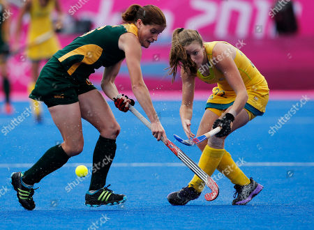 Kate Jenner, Jenifer Wilson South Africa's Jennifer Wilson, left, and Australia's Kate Jenner vie for the ball in the women's hockey preliminary round match at the 2012 Summer Olympics, in London