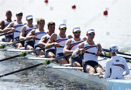 Editorial picture of London Olympics Rowing Men