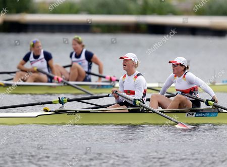 Editorial photo of London Olympics Rowing Women