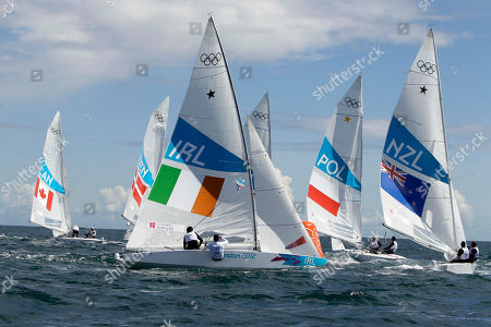 Peter O'Leary, David Burrows Peter O'Leary and David Burrows of Ireland, center left, compete on the Star class during the race 2 of the London 2012 Summer Olympics, in Weymouth and Portland, England