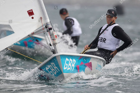 Paul Goodison Paul Goodison of Great Britain sails on Laser dinghy during the race 3 at the London 2012 Summer Olympics, in Weymouth and Portland, England