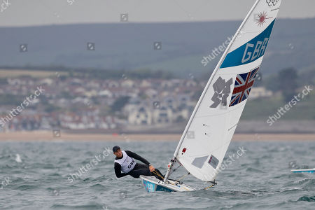 Paul Goodison Paul Goodison of Great Britain sails on Laser dinghy during the race 5 at the London 2012 Summer Olympics, in Weymouth and Portland, England