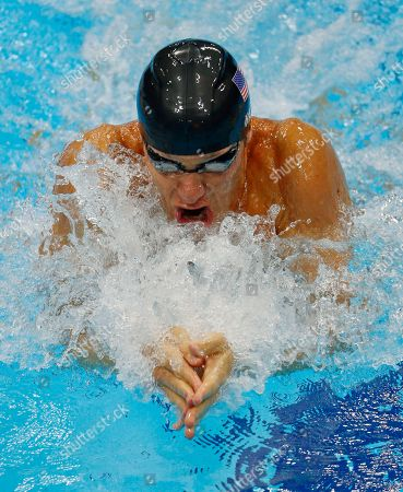 United States' Brendan Hansen swims in the men's 4 X 100-meter medley relay at the Aquatics Centre in the Olympic Park during the 2012 Summer Olympics in London