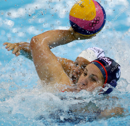 Melissa Seidemann, Ildiko Toth Melissa Seidemann, front, of the United States shoots with Ildiko Toth of Hungary trailing her during a preliminary women's water polo match at the 2012 Summer Olympics, in London. The U.S. won 14-13