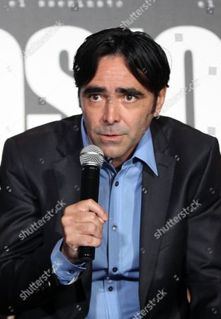 "Carlos Bolado Mexican movie director Carlos Bolado speaks during a press conference to promote his latest film, ""Colosio, el Asesinato"" in Mexico City, . The film, a political fiction thriller, based on the 1994 murder of Luis Donaldo Colosio, then candidate of the Institutional Revolutionary Party, seeks to raise awareness among Mexican citizens and motivate them to cast an informed vote in the July 1 election"