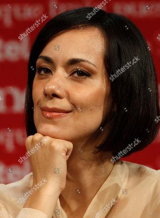 Susana Zabaleta Mexican actress Gabriela de la Garza smiles during a press conference in Mexico City