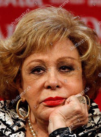 Susana Zabaleta Mexican actress Silvia Pinal attends a press conference in Mexico City