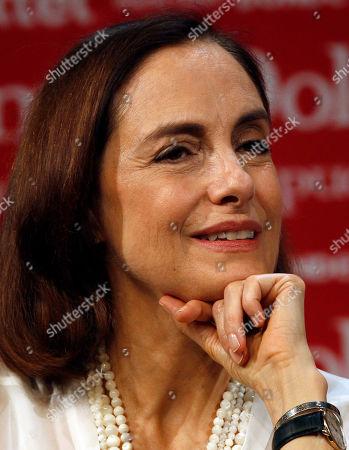 Susana Zabaleta Mexican actress Diana Bracho smiles during a press conference in Mexico City