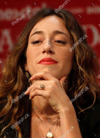 Susana Zabaleta Mexican actress Mariana Trevino poses during a press conference in Mexico City