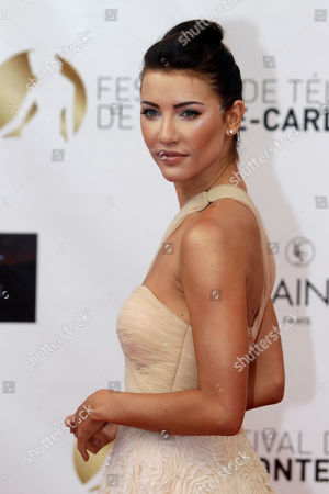 Sarah Shahi Canadian actress Jacqueline Mac Innes Wood poses during the opening ceremony of the 2012 Monte Carlo Television Festival, in Monaco