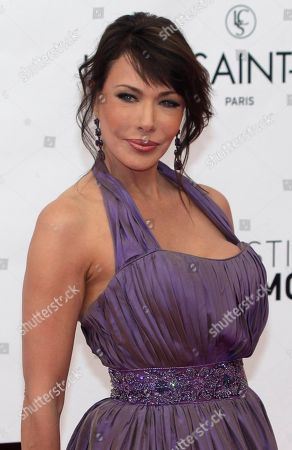 American actress Hunter Tylo poses during the opening ceremony of the 2012 Monte Carlo Television Festival, in Monaco