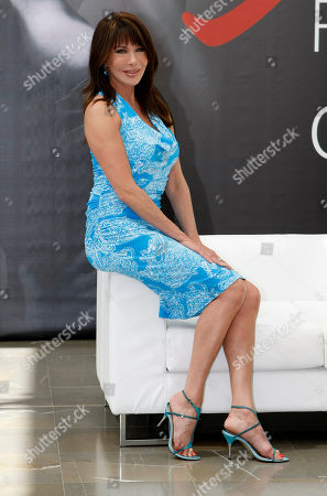 US actress Hunter Tylo poses during a photocall at the 2012 Monte Carlo Television Festival, Tuesday, June 12th, 2012, in Monaco
