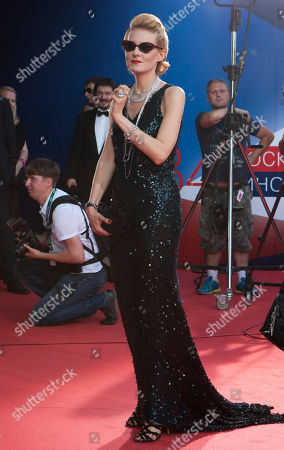 Renata Litvinova Russian actress, director, and screenwriter Renata Litvinova poses on the red carpet at the opening ceremony of the 34th Moscow international film festival in Moscow, Russia