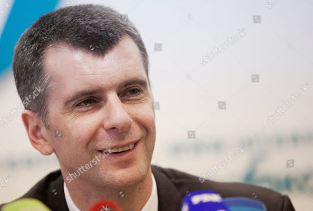 Mikhail Prokhorov Russian tycoon and former presidential hopeful Mikhail Prokhorov speaks to the media during his news conference in Moscow, Russia, . Prokhorov, who owns the New Jersey Nets team among other things, came in third in the March election, garnering nearly 8 percent of the vote, has founded a political party. The 47-year-old has often been accused of being a Kremlin stooge, a claim he has vehemently denied