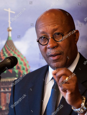 Ron Kirk U.S. Trade Representative Ron Kirk gestures while speaking during an AmCham Breakfast Briefing in Moscow, Russia, . Kirk said Thursday that his administration views lifting of the discriminatory Jackson-Vanick agreement as a key priority this year