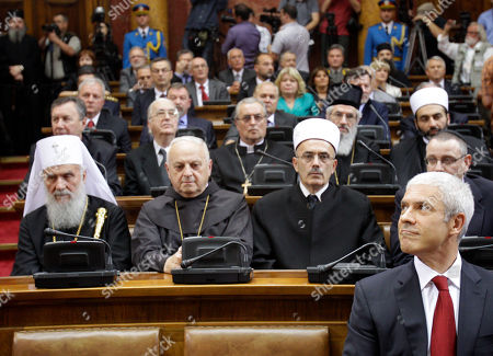 Boris Tadic Former Serbian President Boris Tadic, right, looks up during a parliament ceremony in Belgrade, Serbia, . Tomislav Nikolic was inaugurated as Serbia's new president, opening a period of political and economic uncertainty for the troubled Balkan country
