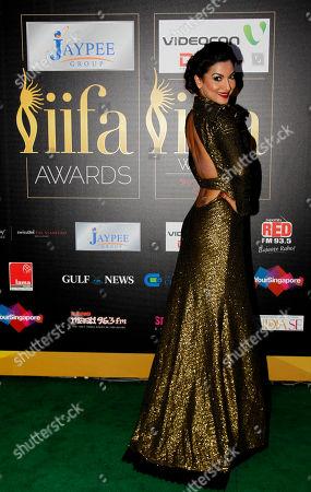 "Gauhar Khan Bollywood actress Gauhar Khan arrives on the ""green carpet"" for the Jaypee International Indian Film Academy (IIFA) awards held on in Singapore"