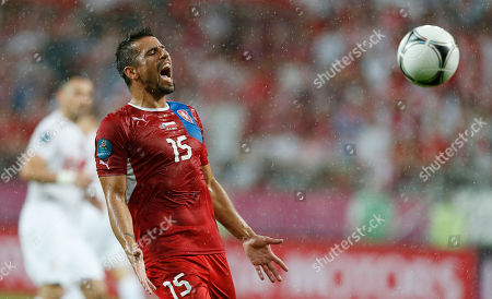 Milan Baros Czech Republic's Milan Baros shouts during the Euro 2012 soccer championship Group A match between Czech Republic and Poland in Wroclaw, Poland
