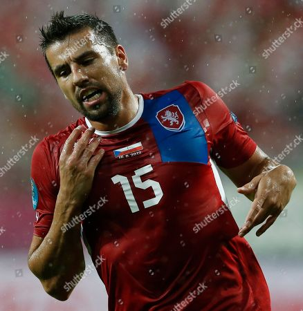 Milan Baros Czech Republic's Milan Baros grimaces during the Euro 2012 soccer championship Group A match between Czech Republic and Poland in Wroclaw, Poland