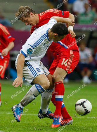 Editorial photo of Soccer Euro 2012 Greece Russia, Warsaw, Poland
