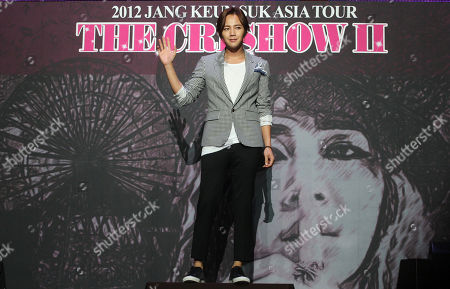 Jang Keun-suk South Korean actor Jang Keun-suk poses during a press conference to kick off his concert, titled 2012 Jang Keun Suk Asia Tour The Cri Show 2, in Seoul, South Korea, . The concert tour will be held in Asian cities which include Japan's Yokohama, Osaka, Nagoya, Fukuoka, China's Shanghai, Shenzhen, Taiwan, and Thailand