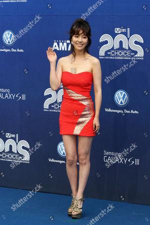 Han Ji-min South Korean actress Han Ji-min poses before the 2012 Mnet 20's Choice awards ceremony in Seoul, South Korea