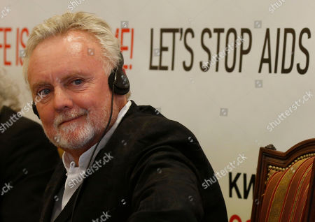 Roger Taylor Roger Taylor from the British rock band 'Queen' looks on during a press conference in Kiev, Ukraine, . On June 30, 2012, at the invitation of the Elena Pinchuk Foundation Elton John, Adam Lambert and Queen will perform to hundreds and thousands of soccer fans in the Fan Zone at Independence Square in Kiev