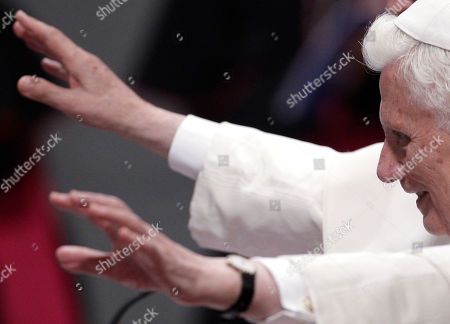 "Stock Picture of Pope Benedict XVI Pope Benedict XVI waves as he arrives at the opening day of Rome's dioceses ecclesiastic meeting at St. John in Lateran Basilica, in Rome, . The pontiff called for his aides near and far to remain loyal to him as the Vatican copes with the fallout of a growing scandal over leaked documents and the controversial ouster of Ettore Gotti Tedeschi. The Vatican says it ""truly regrets"" the publication of a letter from a psychotherapist detailing the mental health of the Vatican's recently ousted bank chief. In a statement to The Associated Press, Vatican spokesman the Rev. Federico Lombardi said the publication of the letter was ""completely unacceptable and cause for true regret, in particular from the point of view of the respect that should be owed to the interested people"