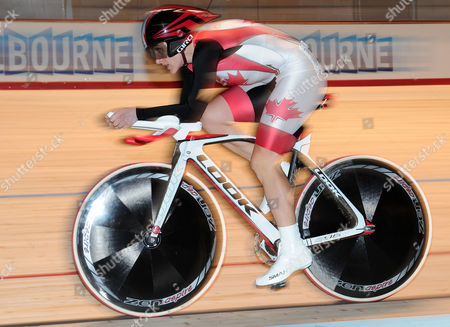 Tara Whitten Canada's Tara Whitten races in the individual pursuit event of the women's omnium at the Track Cycling World Championships in Melbourne, Australia