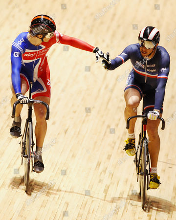 Jason Kenny, Kevin Sireau Britain's Jason Kenny, left, and France's Kevin Sireau shake hands after their quarterfinal race of the men's sprint at the Track Cycling World Championships in Melbourne, Australia
