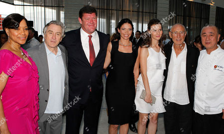 Robert De Niro Actor Robert De Niro, second from left, poses with, from left, his wife Grace Hightower, owner of Burswood Entertainment Centre, James Packer, Erica Packer, Katya Teper, co-owner of Nobu, Meir Teper and Chef Nobu Matsuhisa for the official opening of Nobu Restaurant at Burswood Entertainment Complex in Perth, Australia, . Nobu Restaurant in Perth will be the 24th to open which are co-owned by De Niro, Meir Teper, and chef Nobu Matsuhisa
