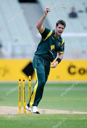 Daniel Christian Daniel Christian celebrate after taking of Sri Lanka's Lasith Malinga during their ODI cricket match in Melbourne, Australia, . Christian took 5 wickets for 31 including a hat trick