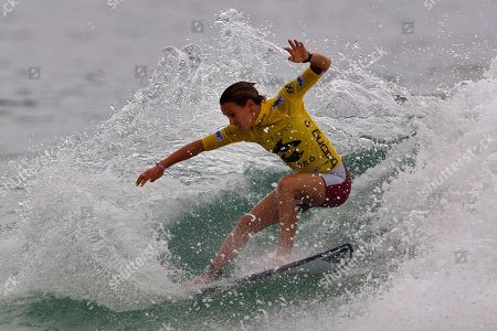Australia's Sally Fitzgibbons competes to win the Association of Surfing Professionals (ASP) Billabong Rio Pro women's surfing competition at Barra da Tijuca beach in Rio de Janeiro, Brazil