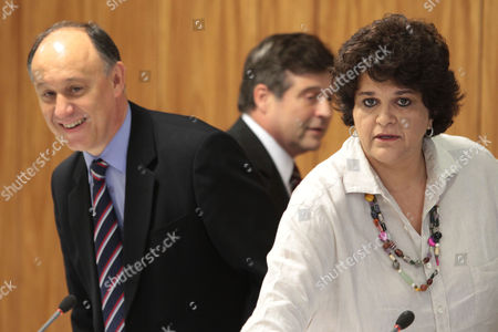 Izabella Teixeira, Mendes Ribeiro, Pepe Vargas Brazil's Environmental Minister Izabella Teixeira, right, and Agrarian Development Minister Pepe Vargas, left, arrive for a press conference at the Planalto presidential palace in Brasilia, Brazil, . Agriculture Minister Mendes Ribeiro is behind center. Teixeira announced that President Dilma Rousseff used her line-item veto powers on a congressional bill that weakened the nation's benchmark environmental law protecting the Amazon. Environmentalists wanted Rousseff to veto the entire bill