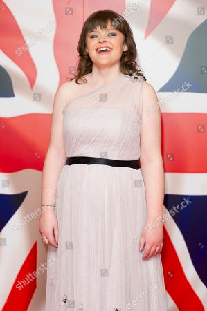 Stock Image of Lissa Hermans Singer, Lissa Hermans, poses for photographers to coincide with the launch of her charity single 'God Save The Queen' at a venue in central London
