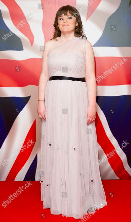 Stock Image of Lissa Hermans Singer, Lissa Hermans, poses for photographers to coincide with the launch of her charity single 'God Save The Queen' at a central London venue