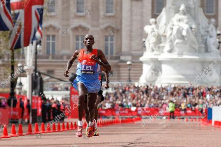 Martin Lel Kenya's Martin Lel races to cross the finish line in second place during the London Marathon, London