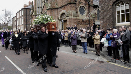 Editorial photo of Britain Northern Ireland Frank Carson Funeral